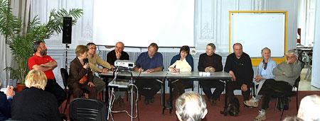 Une présidente bien entourée (photo Pierre-A. Liard)